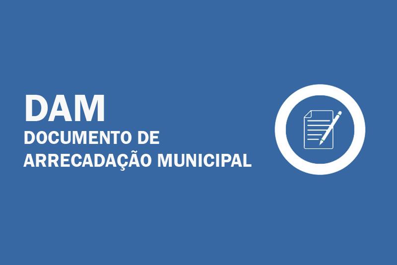 Serviço: Solicitação DAM (Documento de Arrecadação Municipal)