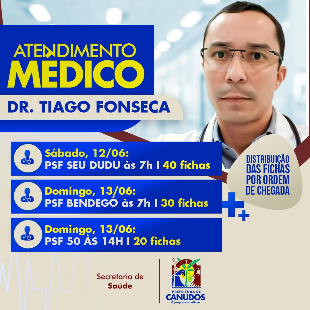 ATENDIMENTO MÉDICO   DR. Tiago Fonseca 👨⚕️
