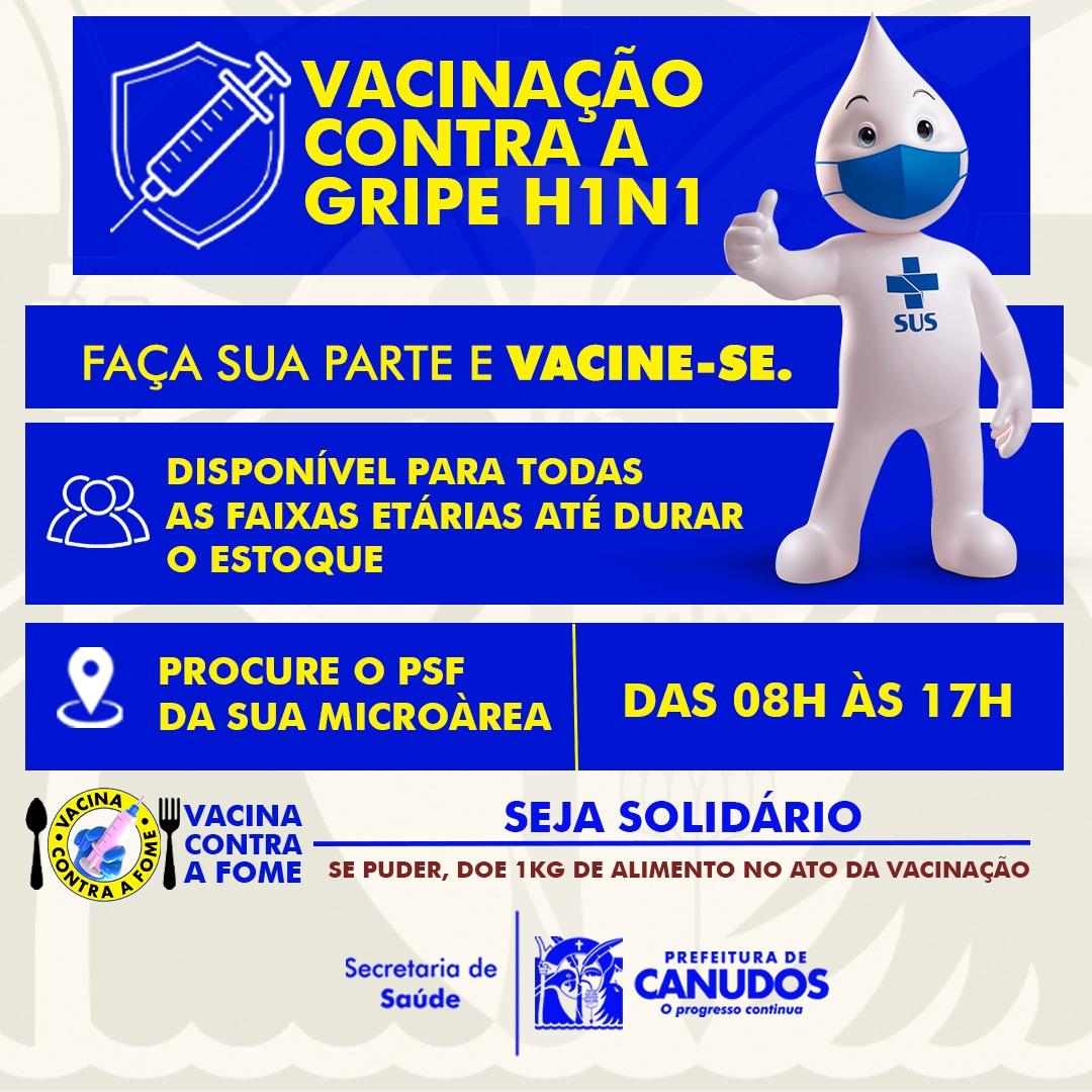 Vacinação contra a gripe H1N1 💉