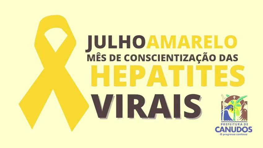 Julho Amarelo – Mês de Conscientização das hepatites virais 💛